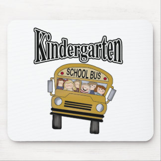 School Bus with Kids Kindergarten Mouse Pad