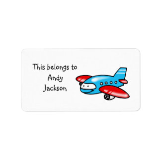 School Labels ( airplane )