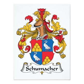 Schumacher Family Crest 17 Cm X 22 Cm Invitation Card