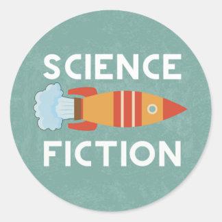 Science Fiction Genre Book Cover Round Sticker