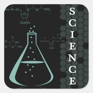 Science Genre Book Cover Square Sticker