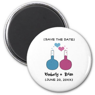 Science of Love Save the Date Magnet