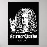 Science Rocks Sir Isaac Newton Poster