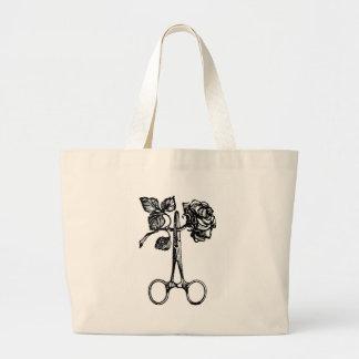 Scissors & Rose Jumbo Tote Bag
