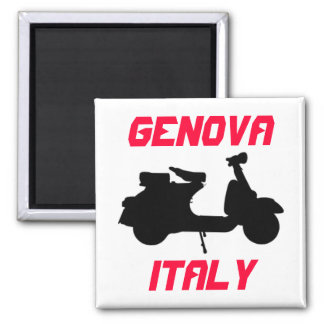 Scooter, Genova, Italy Square Magnet