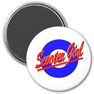 Scooter Girl 7.5 Cm Round Magnet