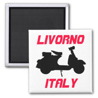 Scooter, Livorno, Italy Square Magnet