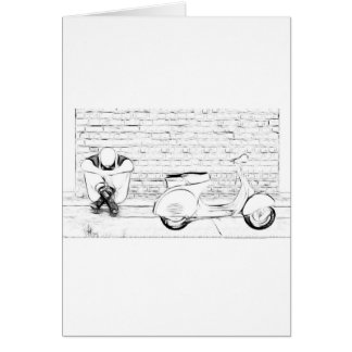 Scooter Skin Greeting Card