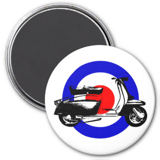 Scooter Target 7.5 Cm Round Magnet