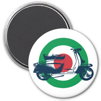 Scooter Target Italy 7.5 Cm Round Magnet