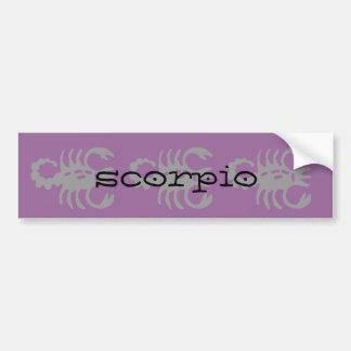 Scorpio in black bumper sticker