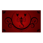 scorpio sophistications pack of standard business cards
