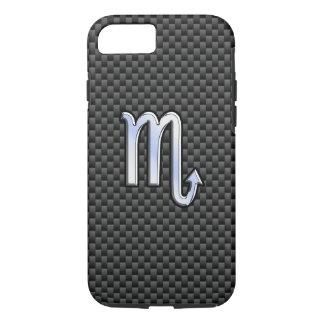 Scorpio Zodiac Symbol on Carbon Fiber Print iPhone 7 Case
