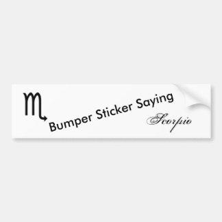 Scorpio Zodiac Symbol Standard Bumper Sticker