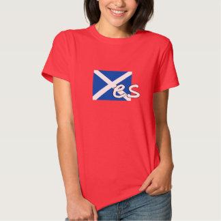 "Scotland Independence: Scottish flag spells ""Yes"", Tee Shirts"