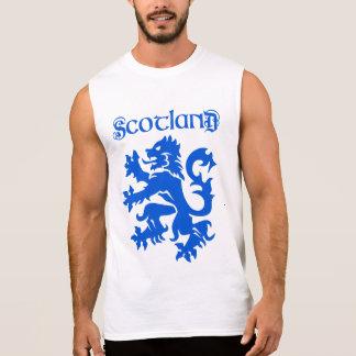 Scotland Lion Rampant Motif Sleeveless T-shirts