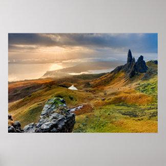 Scotland Scenic Rolling Hills Landscape Poster