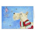 Scottie Christmas Magic Greeting Card