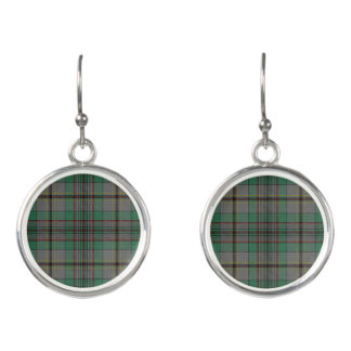 Scottish Clan Craig Tartan Plaid Earrings