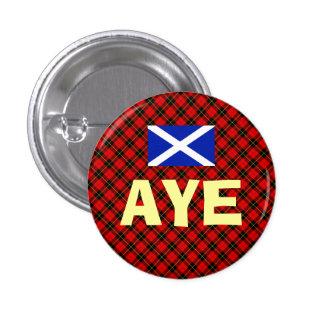 Scottish Independence Aye Wallace Tartan Badge