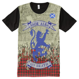 Scottish Independence Declaration of Arbroath Lion All-Over Print T-Shirt