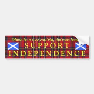 Scottish Independence Tartan Burns Bumper Sticker