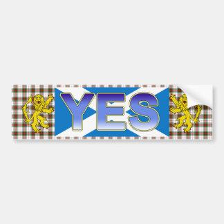 Scottish Independence Tartan Lion Rampant Sticker Bumper Sticker