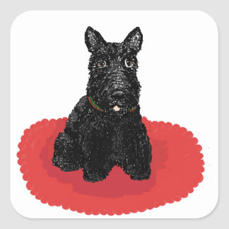 Scottish Terrier Dog Square Sticker