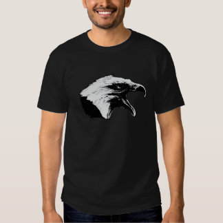 Screaming Bald Eagle in Black Pick Your Background Tees