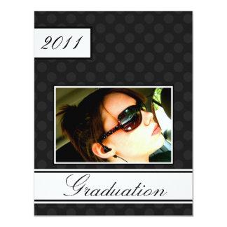 Screen Dot Black Open House Party Graduation 11 Cm X 14 Cm Invitation Card