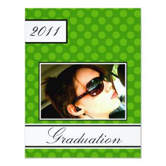 Screen Dot Green Open House Party Graduation 11 Cm X 14 Cm Invitation Card