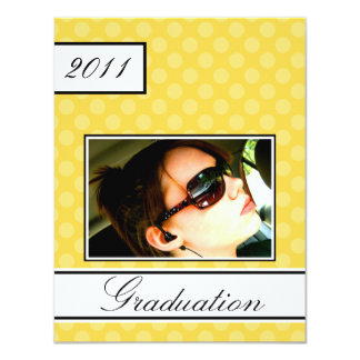 Screen Dot Yellow Open House Party Graduation 11 Cm X 14 Cm Invitation Card