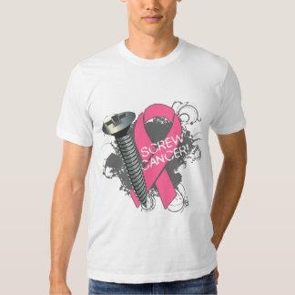 Screw Cancer - Grunge Breast Cancer Tshirt