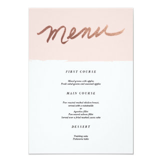 Scripted love   Wedding Menu 13 Cm X 18 Cm Invitation Card
