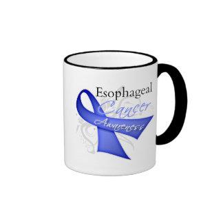 Scroll Ribbon Esophageal Cancer Awareness Ringer Mug
