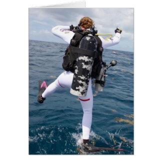 Scuba Diver Jump Greeting Card