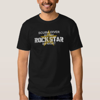 Scuba Diver Rock Star by Night T-shirts