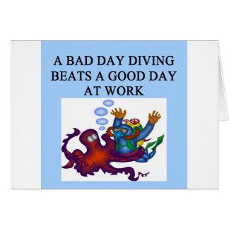 scuba diving design greeting card