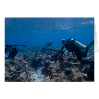 Scuba Diving Excavation Greeting Card