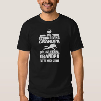 Scuba Diving Grandpa Dark Shirt