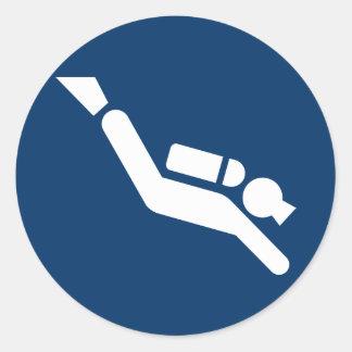 Scuba Diving Symbol Sticker