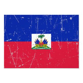 Scuffed and Scratched Haitian Flag 13 Cm X 18 Cm Invitation Card