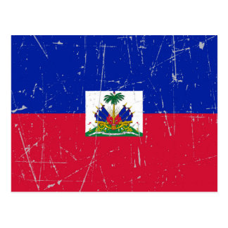 Scuffed and Scratched Haitian Flag Postcard