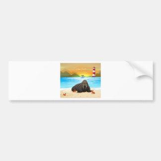 Sea lion bumper sticker