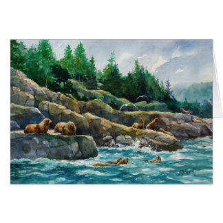 Sea Lion Resort and Spa Greeting Card