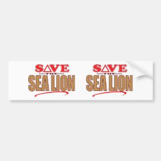 Sea Lion Save Bumper Sticker