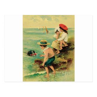 Sea rescue postcard