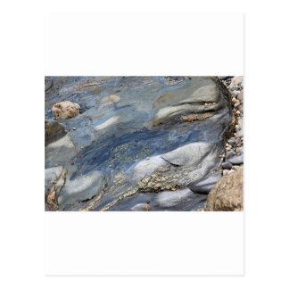 Sea-washed rocks postcard