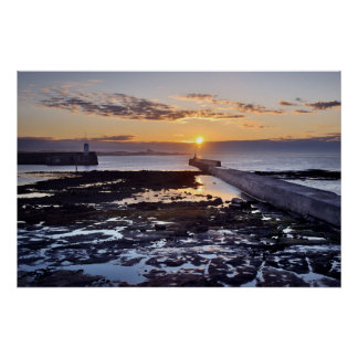 Seahouses Sunset, Northumberland Poster