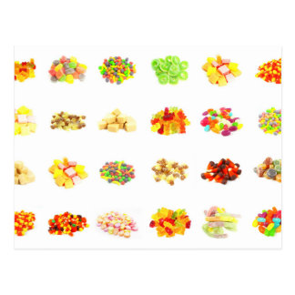 Seamless Sweets and Candy Pattern Background Postcard